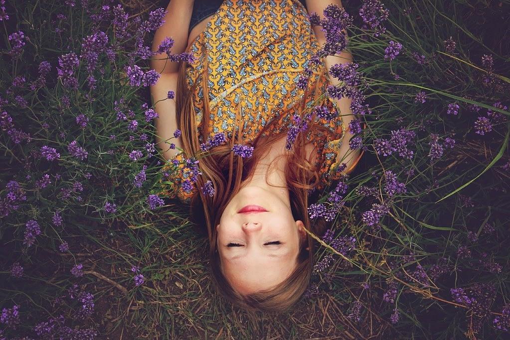 girl, lavenders, asleep-1208307.jpg